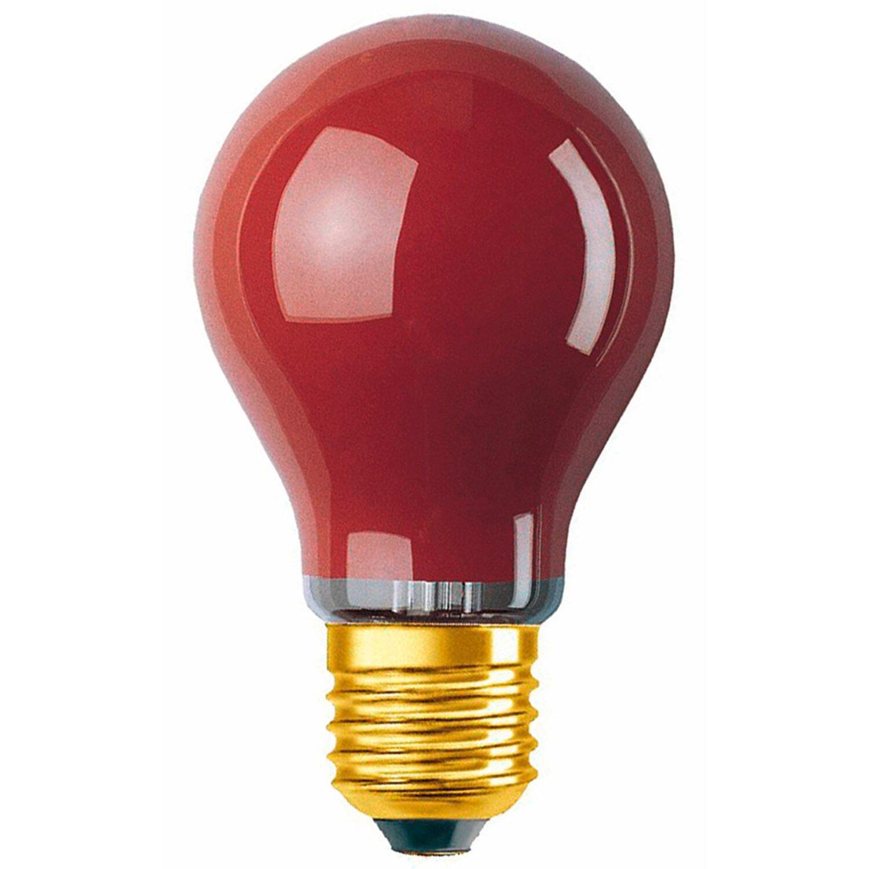 Osram Standard-Lampe Glühlampenform E27 / 11 W Rot EEK: E