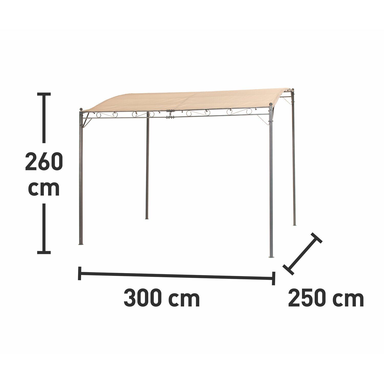 Cmi Anstellpavillon Aus Stahl Beige 250 Cm X 300 Cm Kaufen