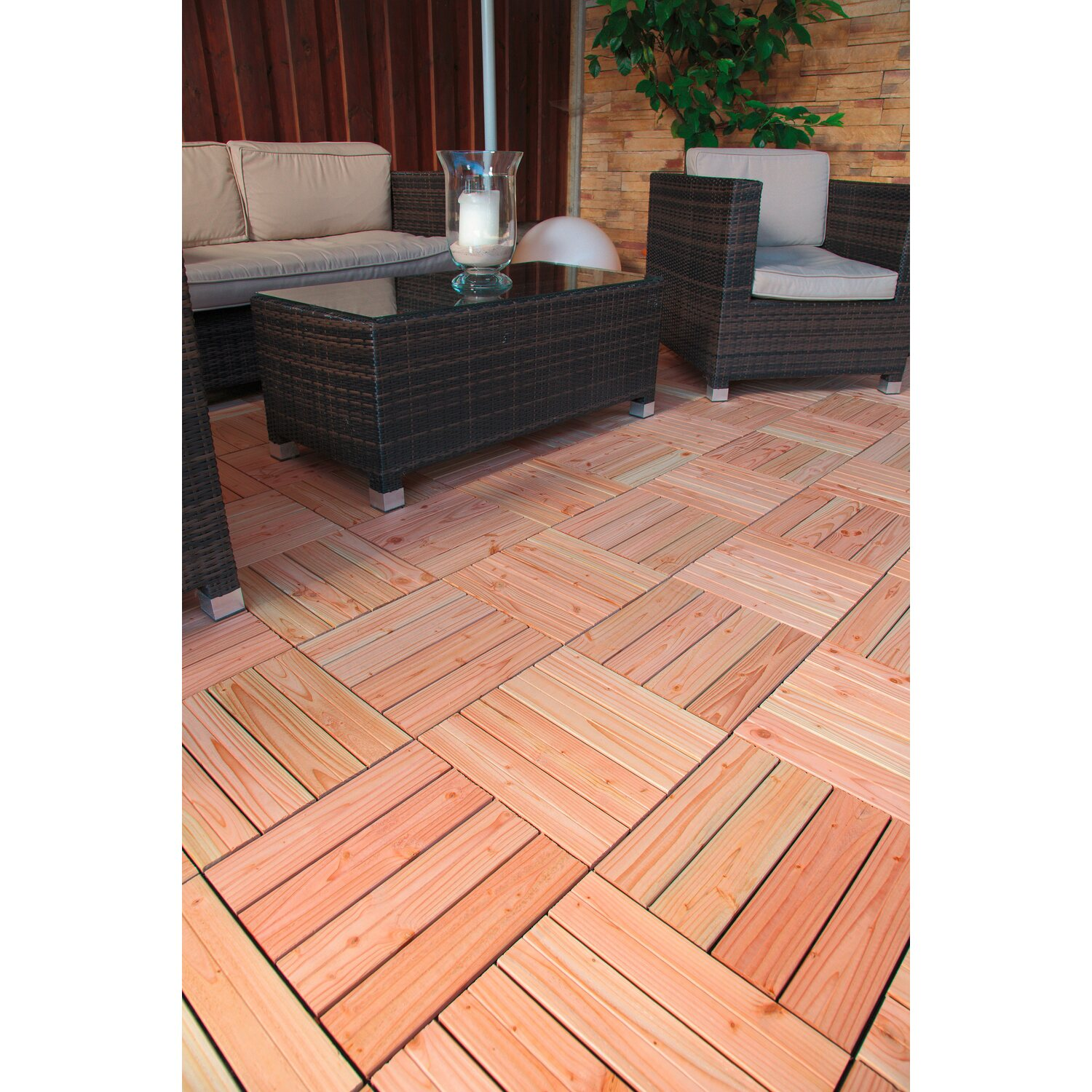 klick fliese holz douglasie 4 st ck 30 cm x 30 cm kaufen. Black Bedroom Furniture Sets. Home Design Ideas
