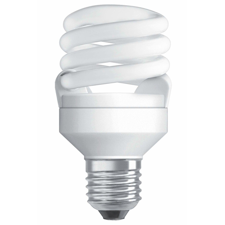 osram energiesparlampe spiralform e27 14 w 740 lm warmwei eek a kaufen bei obi. Black Bedroom Furniture Sets. Home Design Ideas