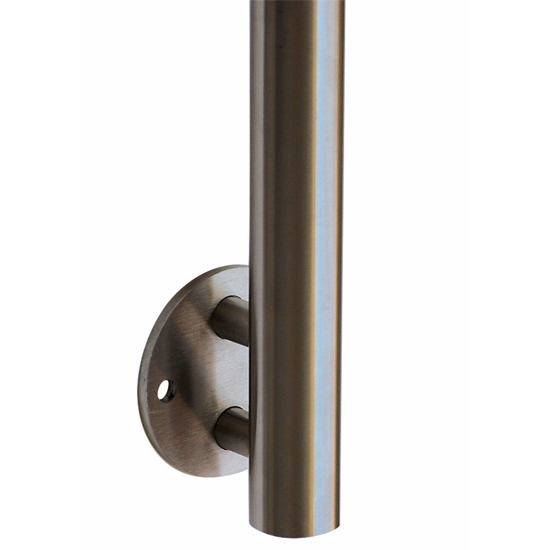 gel nderpfosten edelstahl 42 4 mm 1100 mm mit seitenplatte ohne bohrungen kaufen bei obi. Black Bedroom Furniture Sets. Home Design Ideas