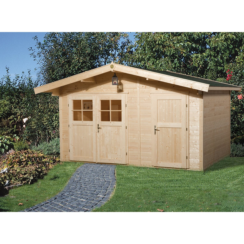 weka holz gartenhaus lago a natur bxt 400 cm x 235 cm kaufen bei obi. Black Bedroom Furniture Sets. Home Design Ideas