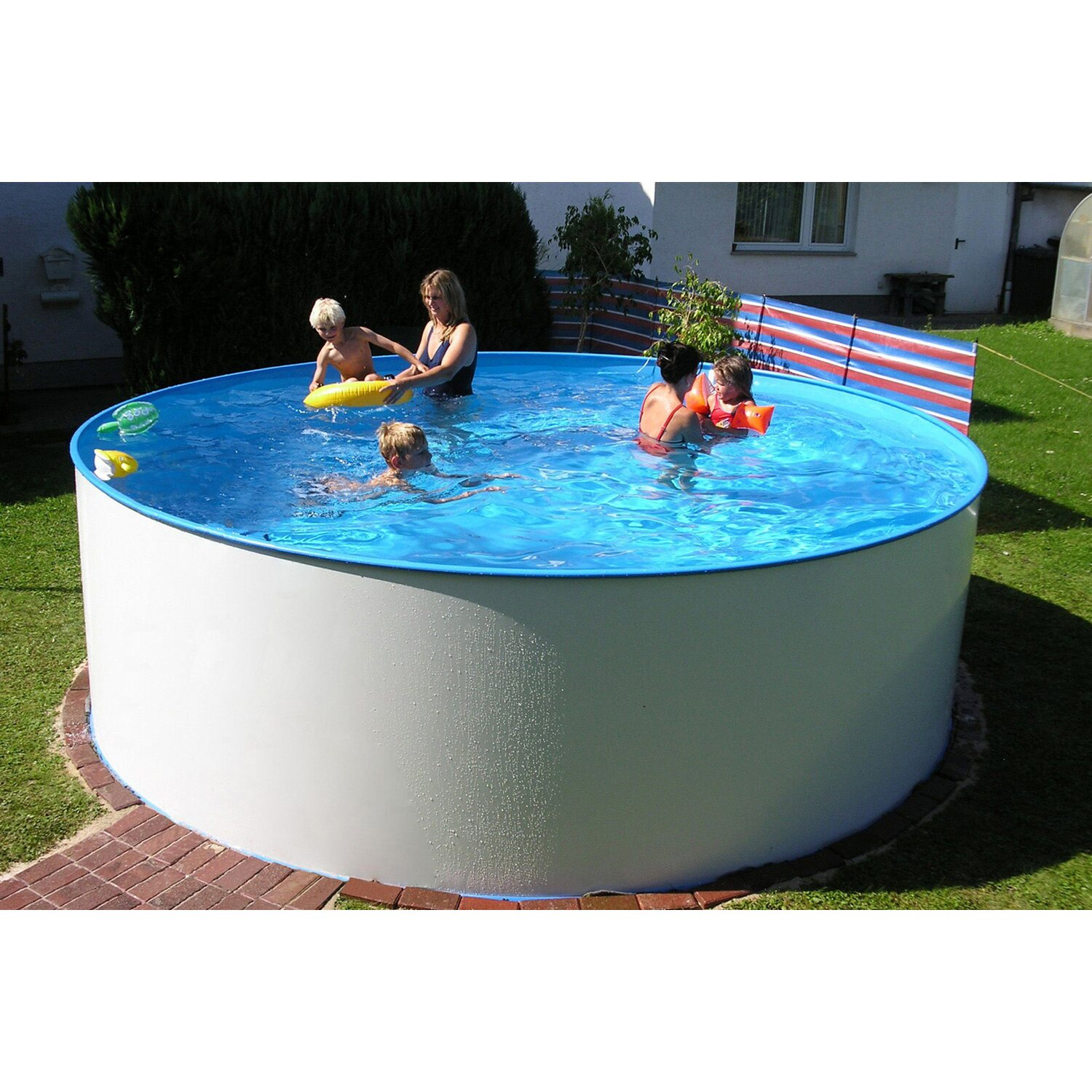 Summer fun stahlwand pool set malibu aufstellbecken 350 for Pool staubsauger obi