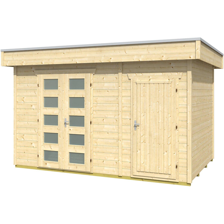 holz gartenhaus venlo 3 420 x 290 cm natur kaufen bei obi. Black Bedroom Furniture Sets. Home Design Ideas