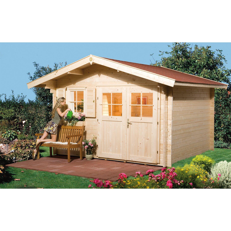 weka holz gartenhaus verona b bxt 340 cm x 300 cm kaufen. Black Bedroom Furniture Sets. Home Design Ideas