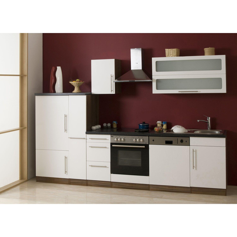 Mebasa Küchenzeile Cucina 300 cm komplett mit Geräten, weiß kaufen ...
