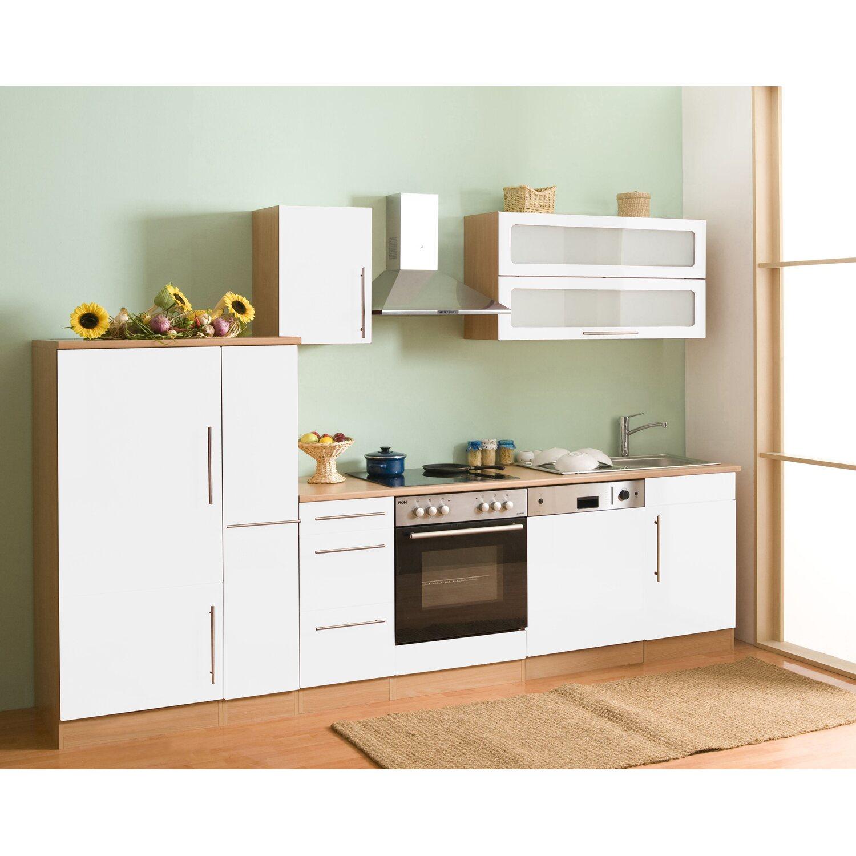 mebasa k chenzeile cucina 300 cm komplett mit ger ten wei kaufen bei obi. Black Bedroom Furniture Sets. Home Design Ideas