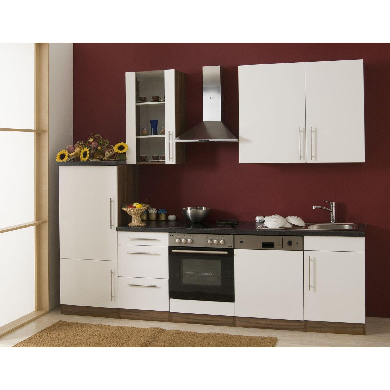 Mebasa kuchenzeile cucina 280 cm komplett mit geraten for Küchenzeile 280 cm mit elektroger ten