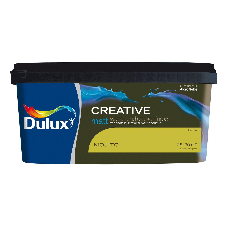 Dulux Feste Farbe dulux wand und deckenfarbe creative mojito matt 2 5 l kaufen bei obi
