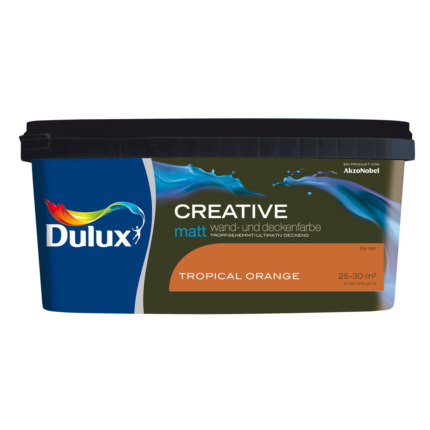 Dulux  Wand- und Deckenfarbe Creative Tropical Orange matt 2,5 l