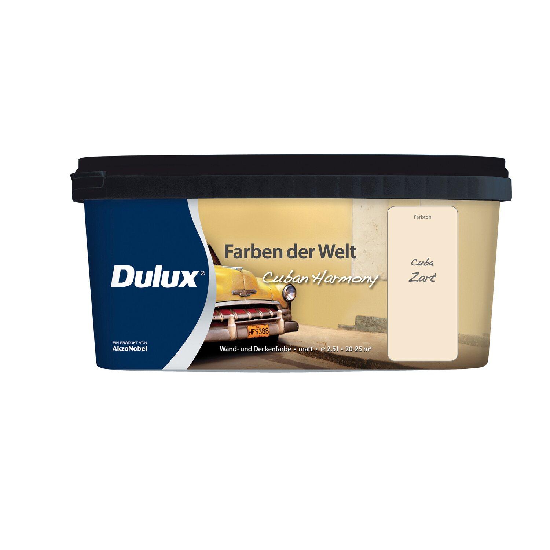 Dulux Feste Farbe dulux wand und deckenfarbe farben der welt cuba zart 2 5 l kaufen