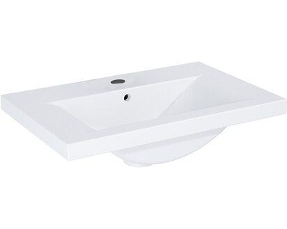 Waschbecken 60 Cm Eckig.Standard Waschbecken Naksos 60 Cm Eckig Weiß