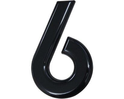 """Hausnummer  NR /"""" 8 /"""" 160mm NYLON  schwarz"""