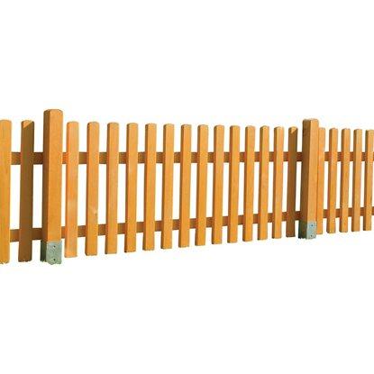 staketenzaun norki kiefer lasiert 80 cm x 200 cm kaufen bei obi. Black Bedroom Furniture Sets. Home Design Ideas