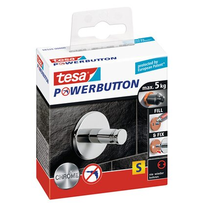 Tesa Powerbutton Small Chrom