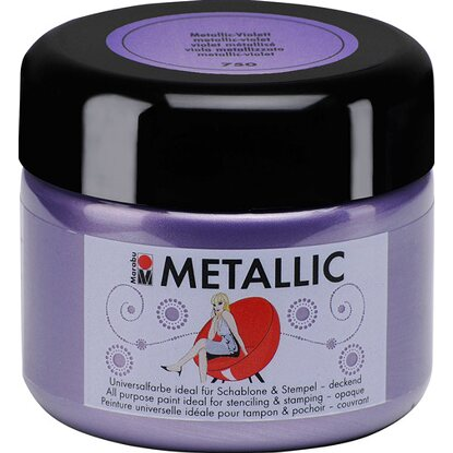 Marabu Metallic deckend 225 ml Metallic-Violett