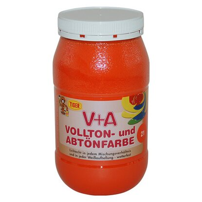 V+A Volltön- und Abtönfarbe Orange 1 kg