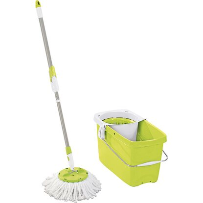 Leifheit Set Clean Twist Disc Mop Shiny Green