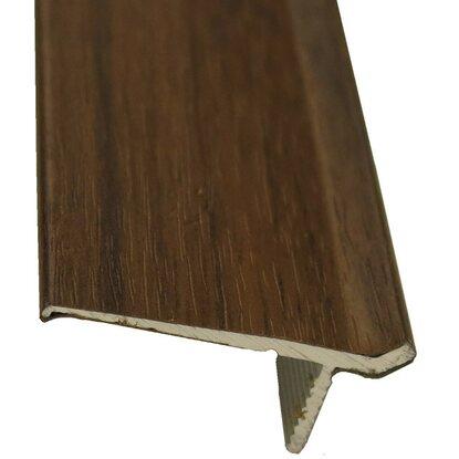 abschlussprofil clip system alu 32 mm x 15 mm nussbaum 1000 mm kaufen bei obi. Black Bedroom Furniture Sets. Home Design Ideas