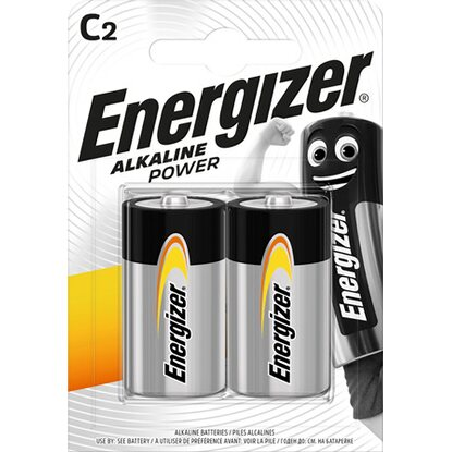 Energizer Alkaline Power Baby C Batterie 2er-Pack
