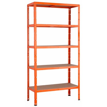 Metall-Schwerlast-Steckregal Orange 180 cm x 90 cm x 40 cm