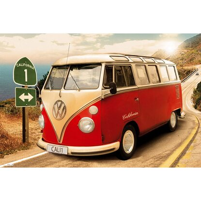 Maxiposter VW Californian Camper - Route one 61 cm x 91,5 cm