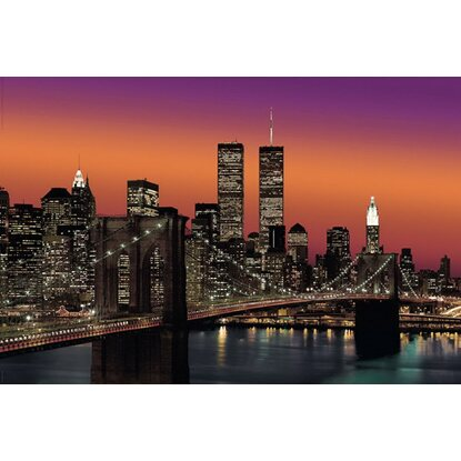 Maxiposter New York Brooklyn Bridge at Night - Colour 61 cm x 91,5 cm