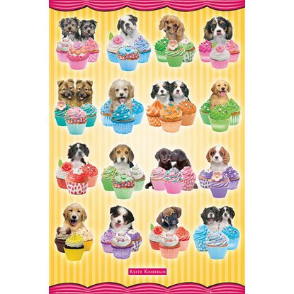 Maxiposter Keith Kimberlin - Puppies cupcakes 61 cm x 91,5 cm