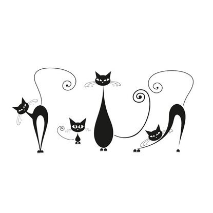 Eurographics Wandtattoo Black Cats