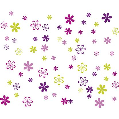 Eurographics Wandtattoo Jazzy Blooms