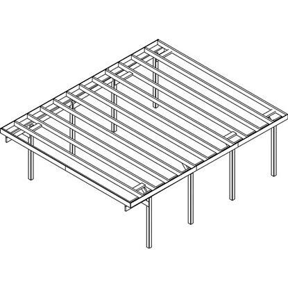 doppel carport baltrum 2 pvc dacheindeckung douglasie. Black Bedroom Furniture Sets. Home Design Ideas