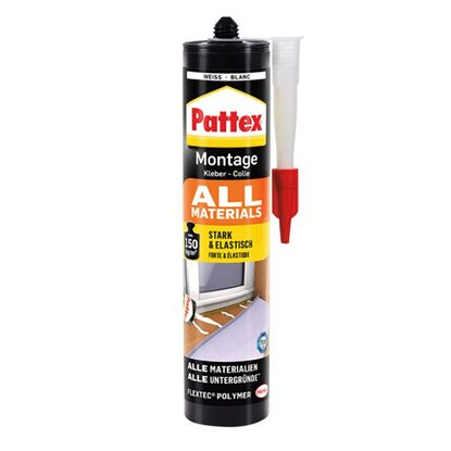 Pattex Montage Kleber All Materials Weiß 450 g