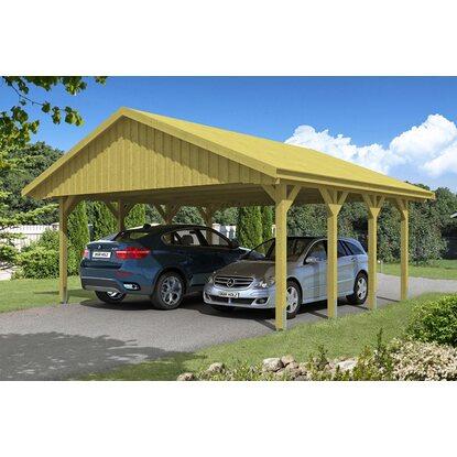 Skan Holz Satteldach-Carport Sauerland 620 cm x 600 cm Dachschalung ...