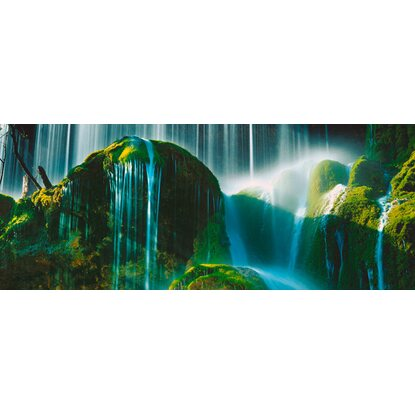 Eurographics Deco Glass Green Falls 50 cm x 125 cm