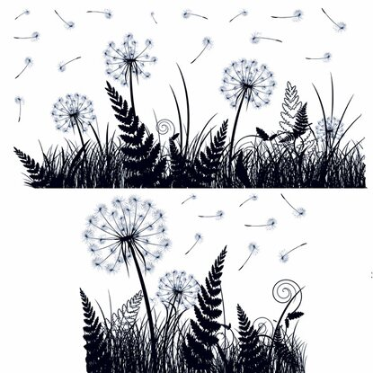 Eurographics Fenstersticker Dandelion Shadow
