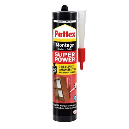 Pattex Montage Kleber Super Power Weiß 370 g