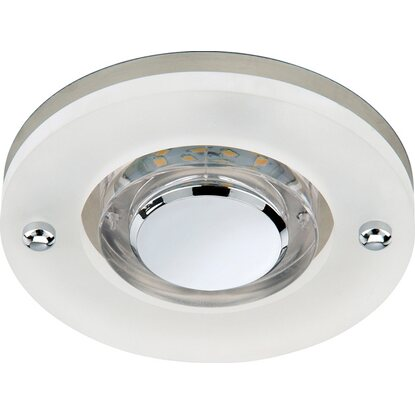 Briloner LED-Einbauleuchte EEK: A+ Attach 1er-Set starr Nickel matt