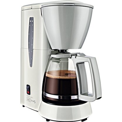 Melitta Filter-Kaffeemaschine Single 5 Weiß-Grau