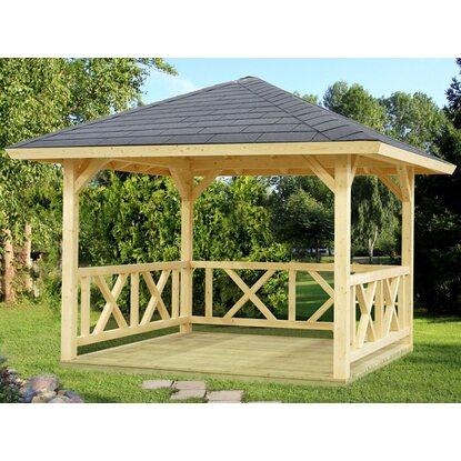 palmako holz pavillon betty natur unbehandelt 300 cm x 300 cm ohne fu boden kaufen bei obi. Black Bedroom Furniture Sets. Home Design Ideas