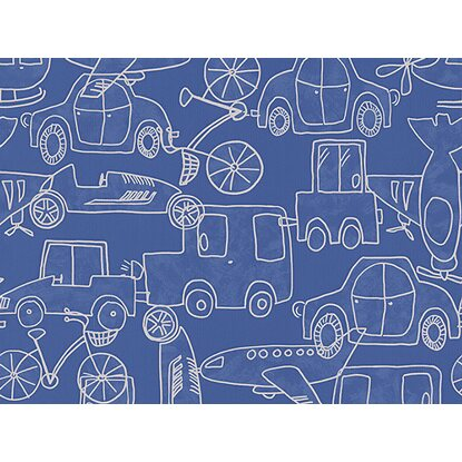 A.S. Creation Papiertapete Boys & Girls 5 Autos Blau