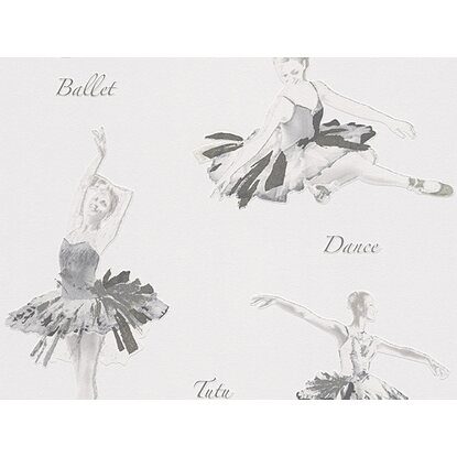 A.S. Creation Papiertapete Boys & Girls 5 Ballett Grau