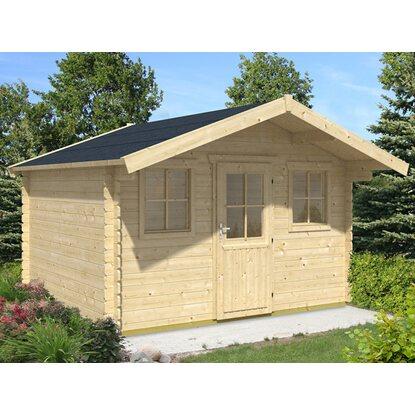 skan holz holz gartenhaus lagos 1 natur b x t 340 cm x 300 cm kaufen bei obi. Black Bedroom Furniture Sets. Home Design Ideas