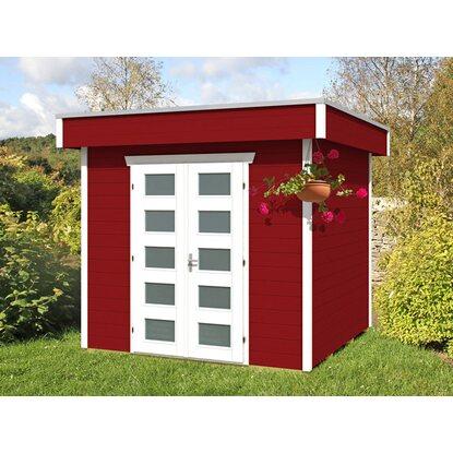 skan holz holz gartenhaus venlo 1 schwedenrot b x t 250 cm x 250 cm kaufen bei obi. Black Bedroom Furniture Sets. Home Design Ideas