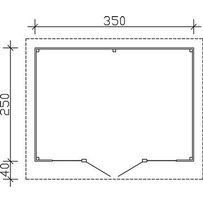 holz gartenhaus ostende 1 schwedenrot b x t 350 cm x 250 cm kaufen bei obi. Black Bedroom Furniture Sets. Home Design Ideas