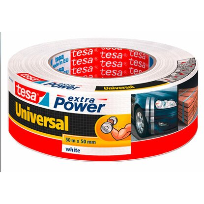 Tesa Extra Power Universal Weiß 50 m x 50 mm