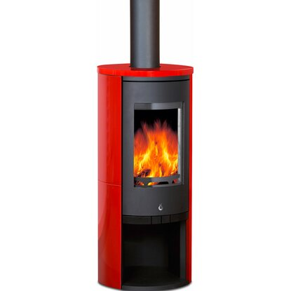 OBI Kaminofen Messina Keramik-Rot 7 kW