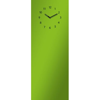 Eurographics Memoboard Time Board Green Clock 30 cm x 80 cm