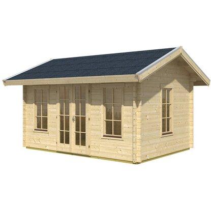 skan holz gartenhaus lugano 2 b x t 420 cm x 380 cm basishaus kaufen bei obi. Black Bedroom Furniture Sets. Home Design Ideas