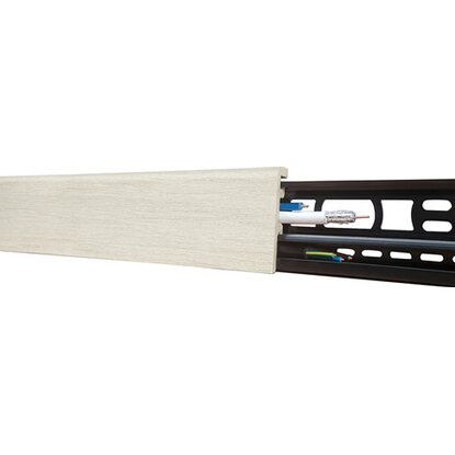 Sockelleiste Floorever Spa White Water 21 x 60 mm Länge 2400 mm