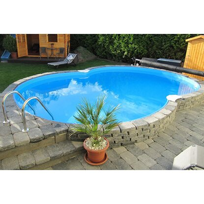 Pool-Set Colorado Halbhoch-Einbaubecken Achtform  625 cm x 360 cm x 120 cm